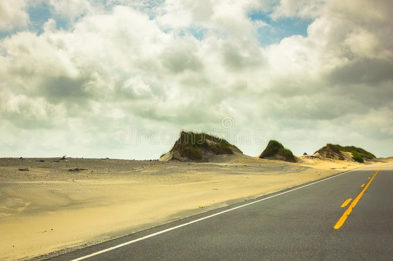 Road Dunes in Hatteras 4 stock photography