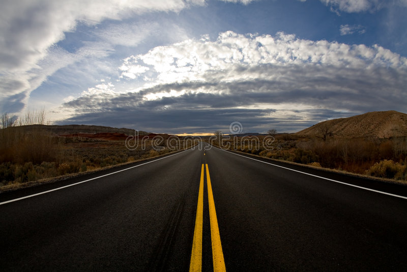 Road At Dusk Stock Photos