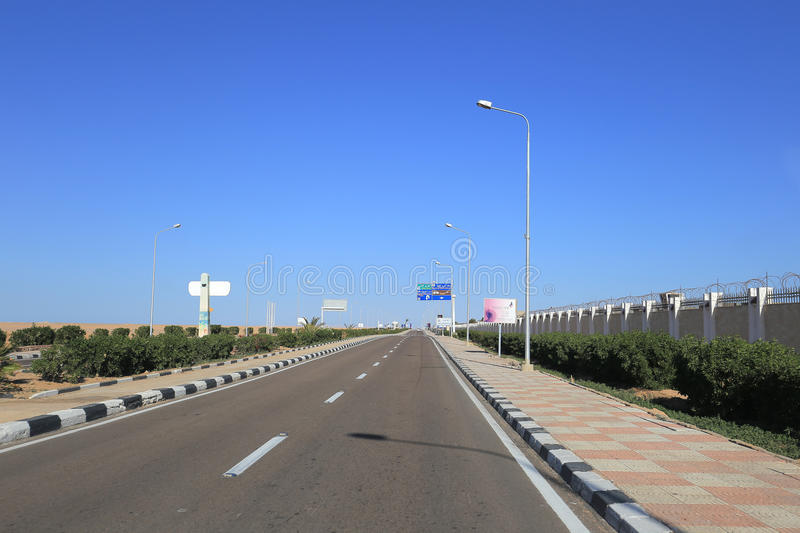 Download Road in Egypt editorial stock photo. Image of traveling - 86659593