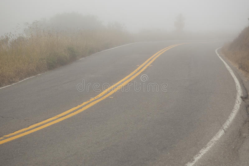 Road Fog royalty free stock images
