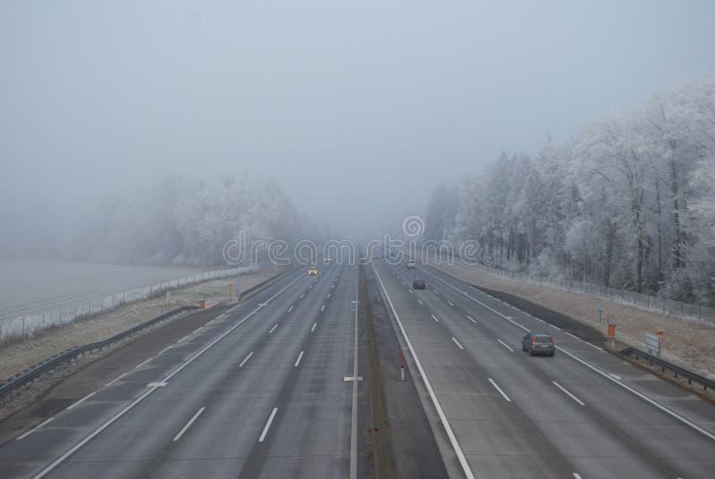 Road, Fog, Highway, Lane royalty free stock photos