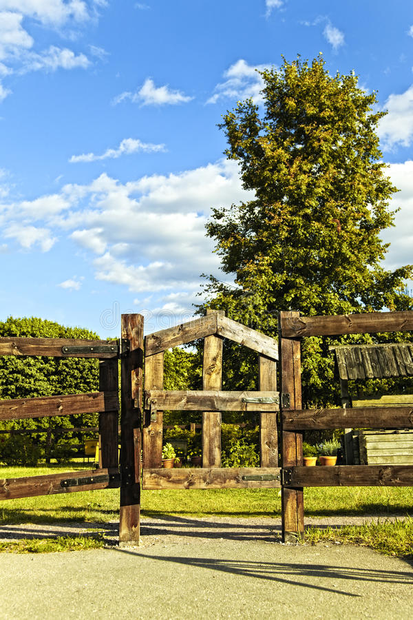 Road Gate Trees And Sky Royalty Free Stock Images