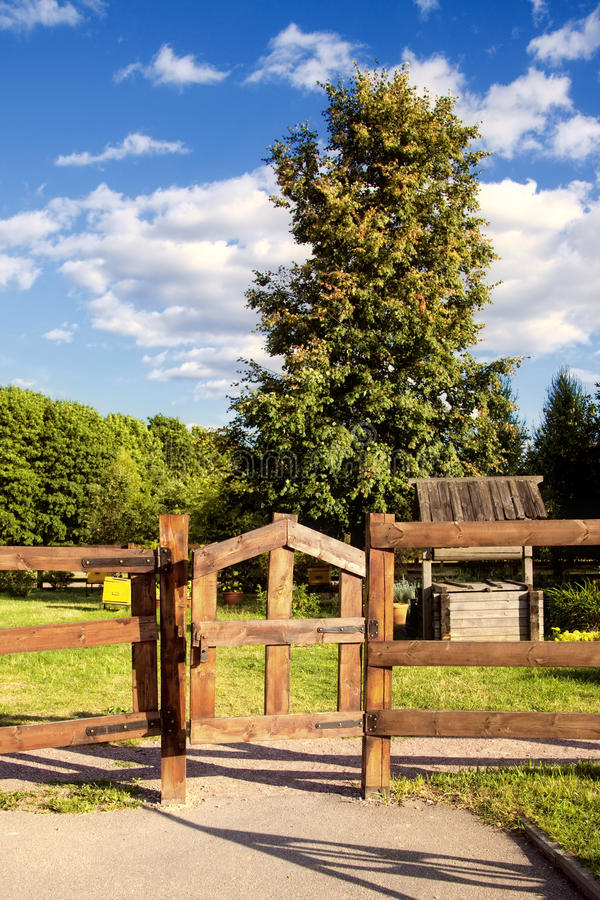 Download Road gate trees and sky stock photo. Image of summer - 16299196