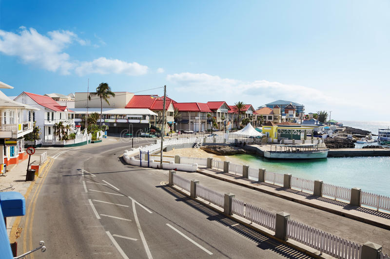 Road through George Town royalty free stock photo