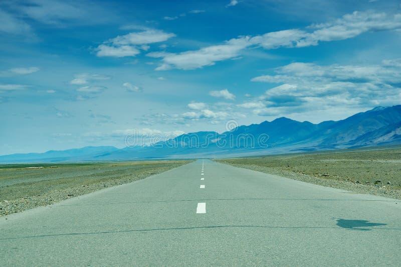 Road in Gobi Desert. Huysiyn govi, Mongolia royalty free stock photos