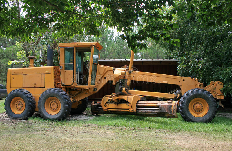 Download Road grader stock image. Image of quarry, clearing, smooth - 4153889