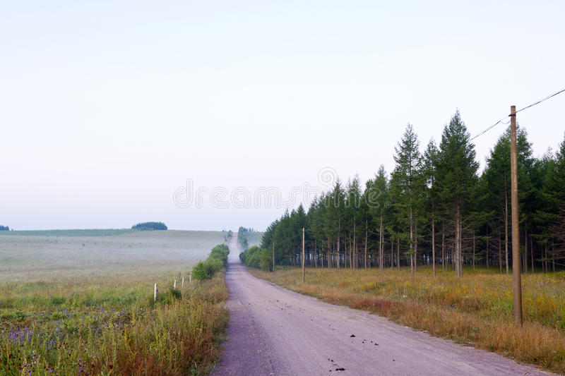 Road on the grassland. In chengde SaiHanBa, in China stock image