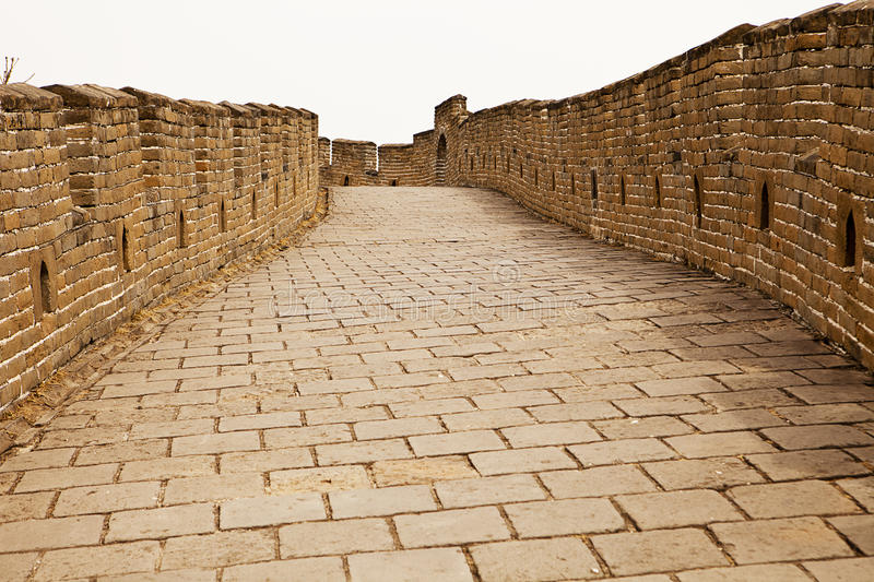 The Road On The Great Wall Royalty Free Stock Photos