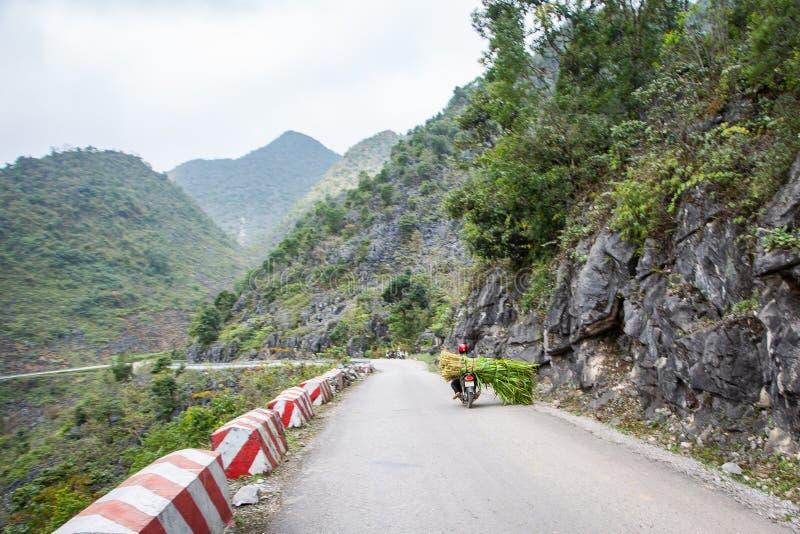 Ha Giang Mountain Range, Northern Vietnam. Road in the Ha Giang Mountain Range, Northern Vietnam royalty free stock photography