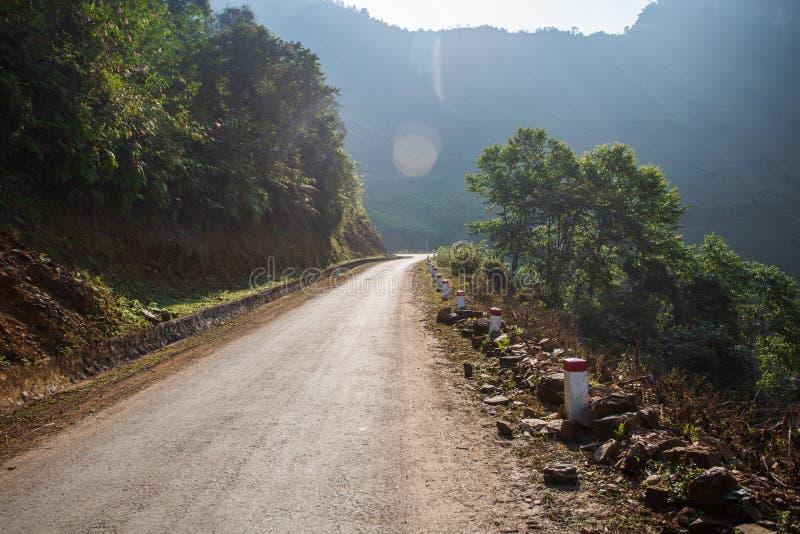 Ha Giang Mountain Range, Northern Vietnam. Road in the Ha Giang Mountain Range, Northern Vietnam royalty free stock photos