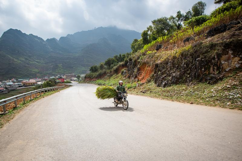 Ha Giang Mountain Range, Northern Vietnam. Road in the Ha Giang Mountain Range, Northern Vietnam stock photography