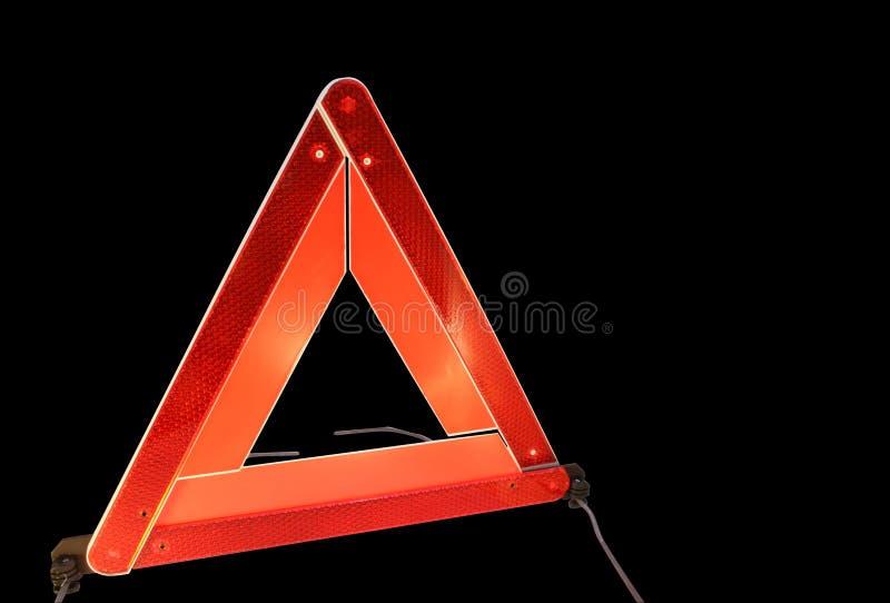Road hazard warning triangle stock photos