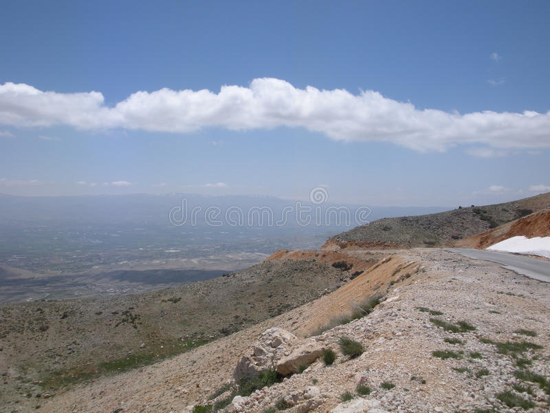 Lebanon, Road High in the Sky royalty free stock photo