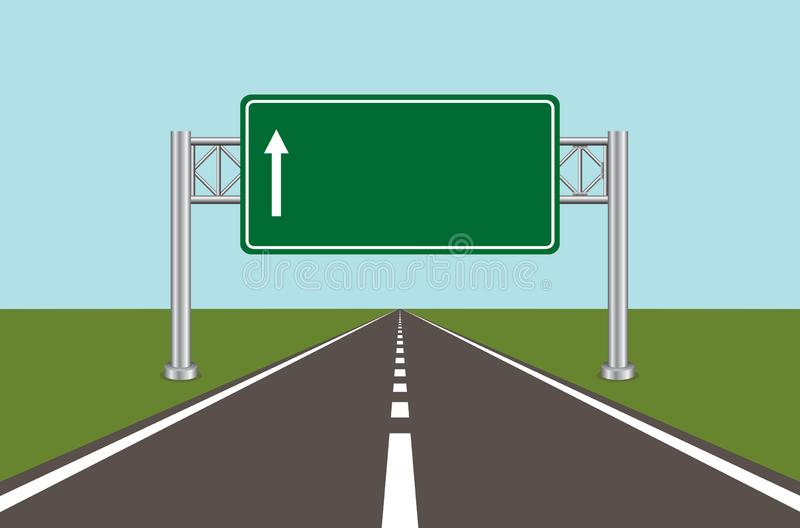Road highway sign 2 royalty free illustration