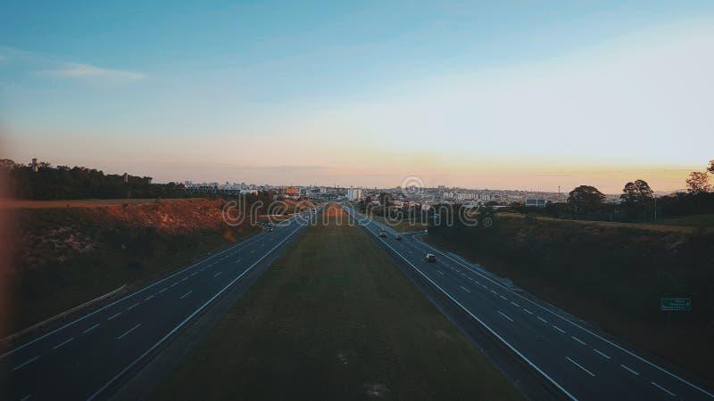 Road, Highway, Sky, Horizon royalty free stock photos