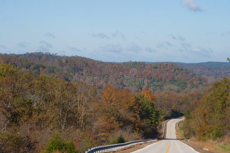 Road through the hills royalty free stock photos
