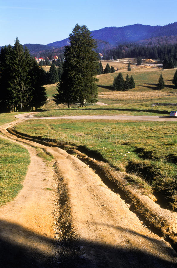 Download Road on hillside stock photo. Image of dirt, scenic, hills - 22850280
