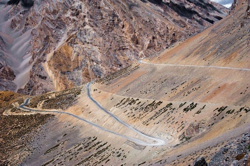 Road in Himalaya high mountain landscape