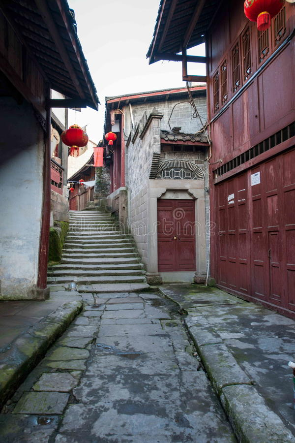 ---- Road Hole town one of the top ten most attractive town Chongqing. Road Hole town, Song and Ming dynasties, where it naturally built for the peddler of some stock photos
