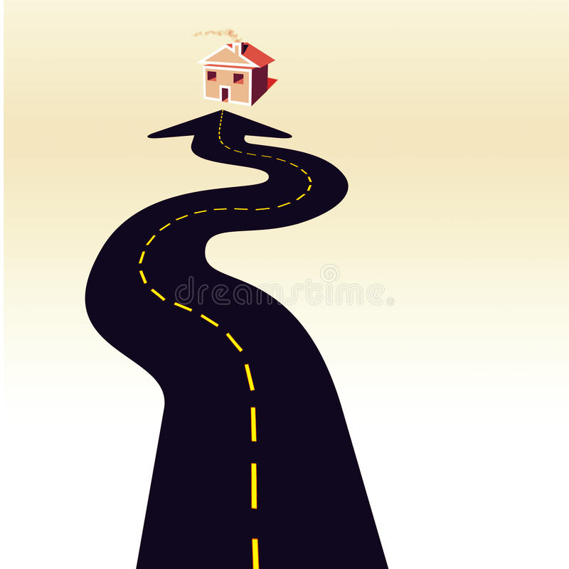 Download Road Home stock illustration. Image of adults, architecture - 15084944
