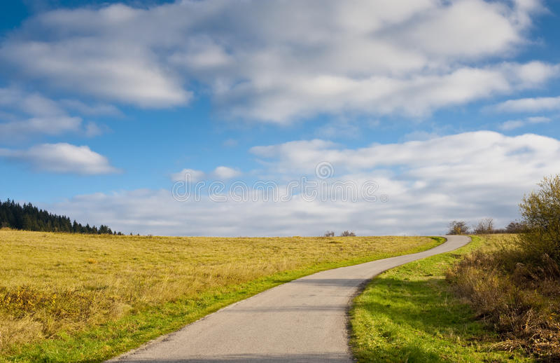 Road and horizon stock photo