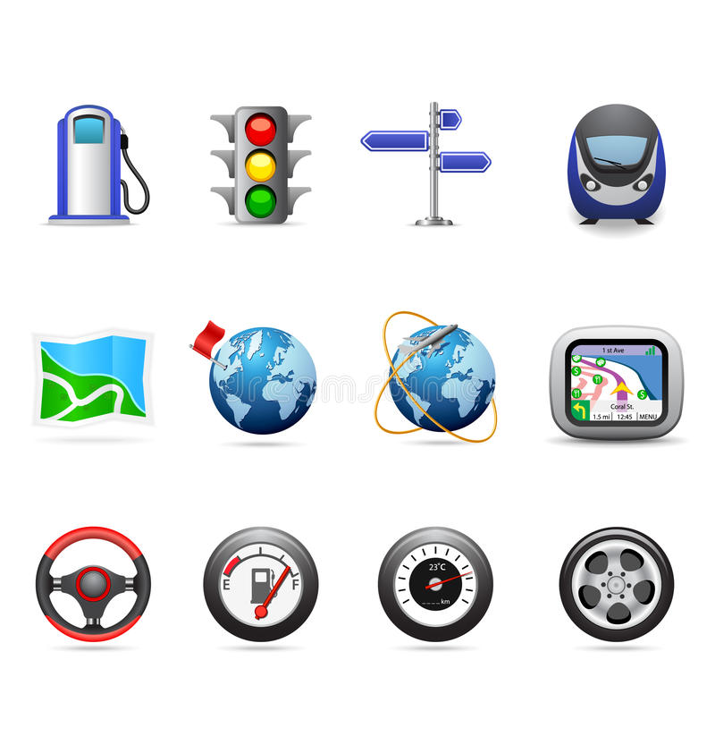 Road icons vector illustration