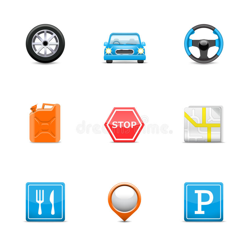 Download Road icons stock vector. Image of forbidden, signs, food - 24085868
