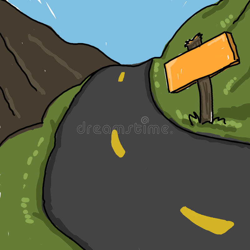 Download Road illustration stock illustration. Image of scenic - 12231278