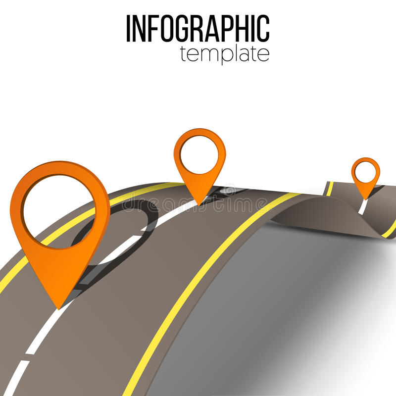Road infographic stock illustration