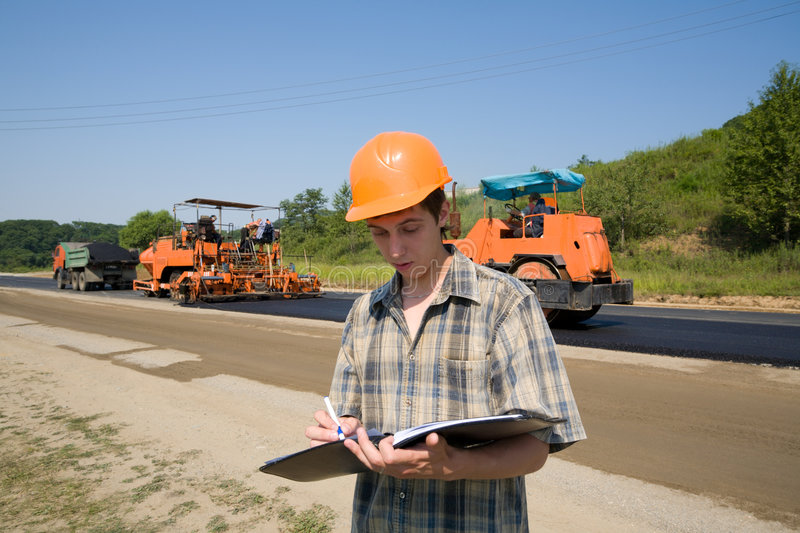 Road inspector stock photography