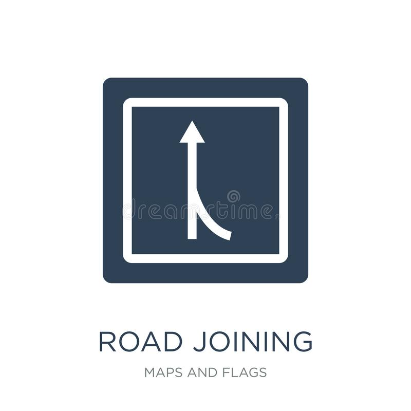 road joining icon in trendy design style. road joining icon isolated on white background. road joining vector icon simple and royalty free illustration