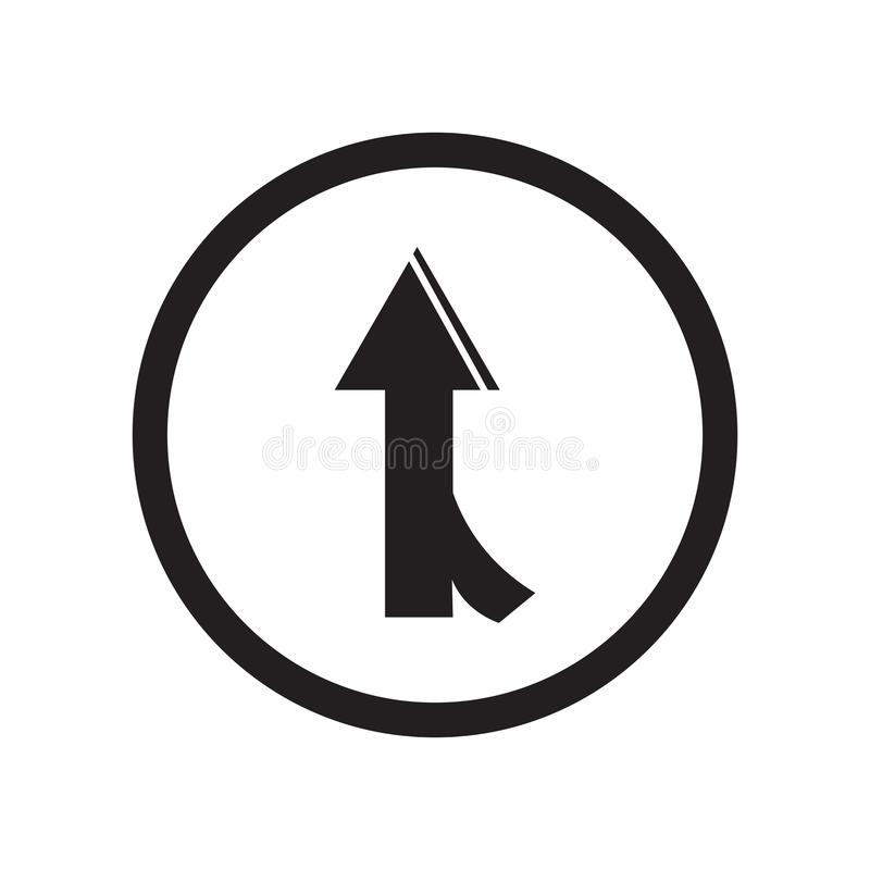 Road joining icon vector sign and symbol isolated on white background, Road joining logo concept. Road joining icon vector isolated on white background for your stock illustration
