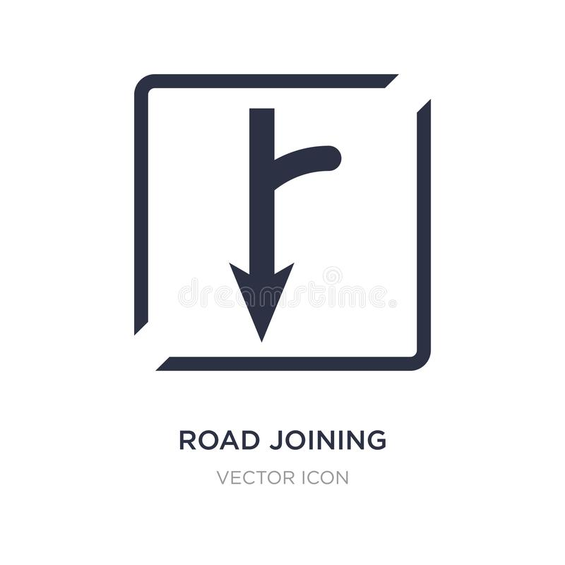 Road joining icon on white background. Simple element illustration from Maps and Flags concept. Road joining sign icon symbol design stock illustration