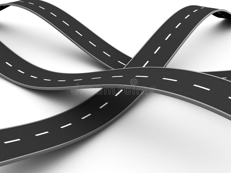 Download Road knot stock illustration. Image of line, long, racing - 13013307