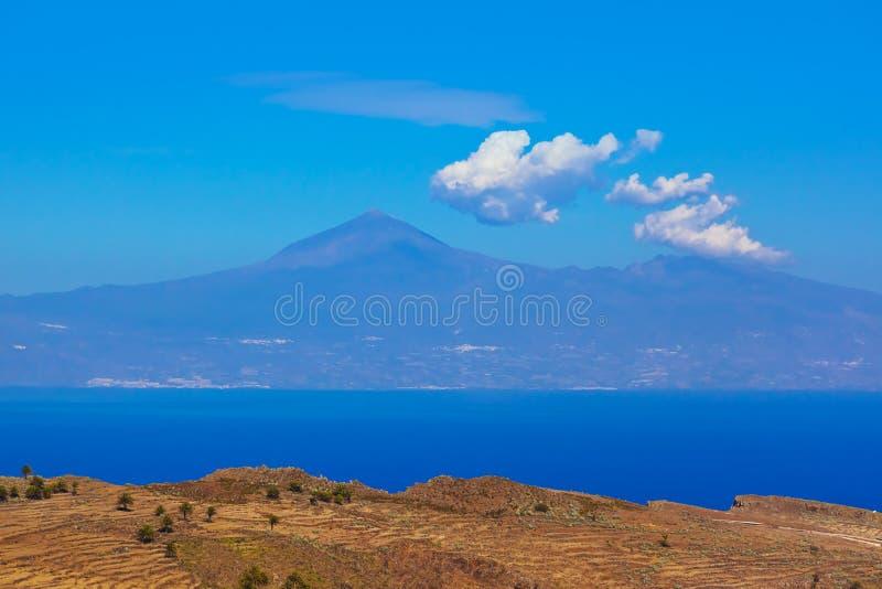 Road in La Gomera island - Canary. Spain royalty free stock photography