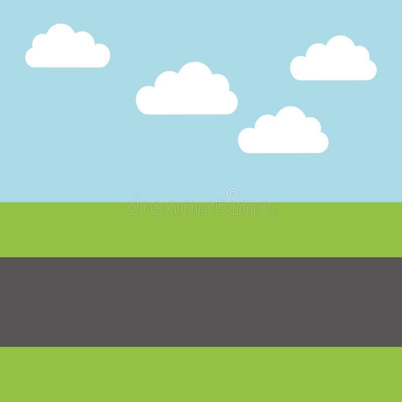 Road Landscape Isolated Icon Stock Illustration ...