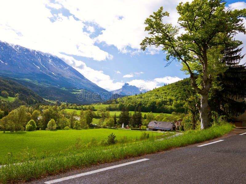 Road in landscape stock photo