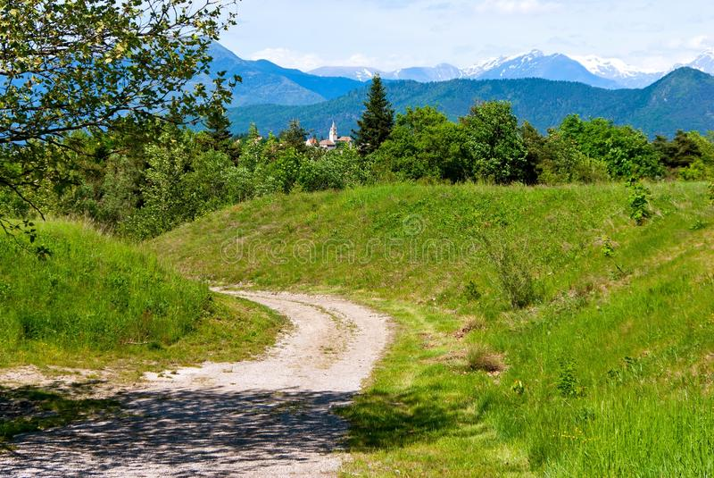 Road in landscape royalty free stock photo