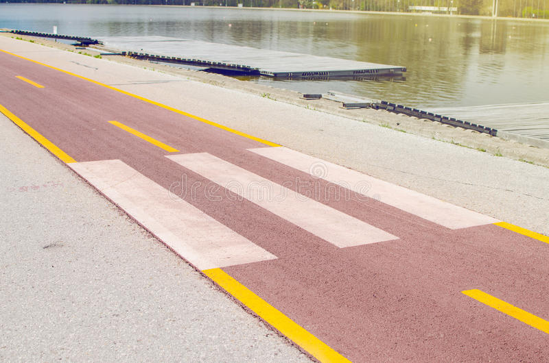 Road Lane With Pedestrian Crosswalk stock images
