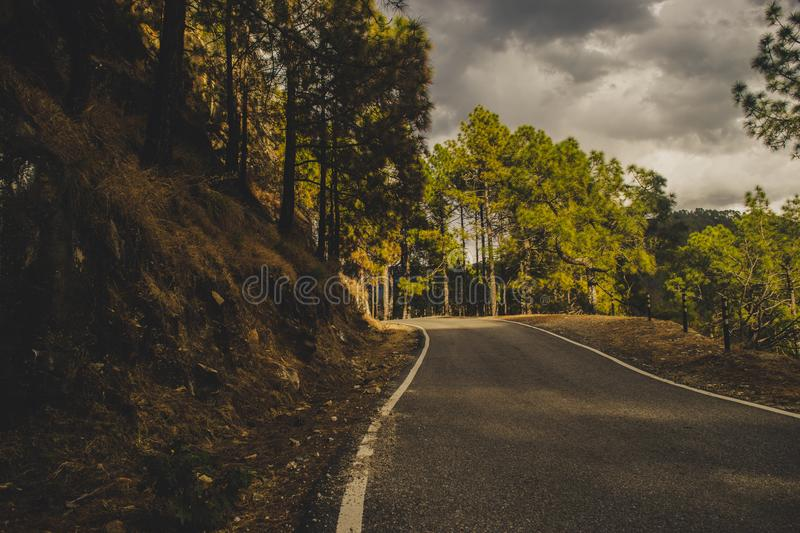 A road leading to somewhere stock image