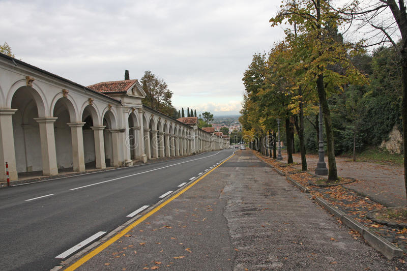 Road That Leads To Monte Berico In Vicenza Stock Photo