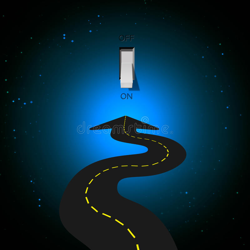Download Road and Light Switch stock illustration. Image of direction - 19039358