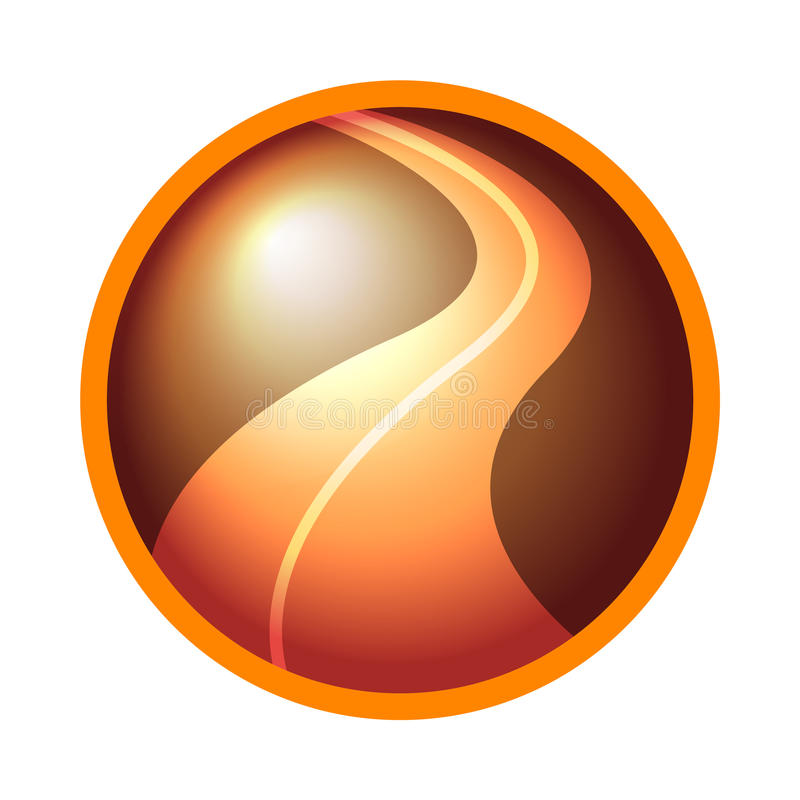 Road logo icon royalty free illustration