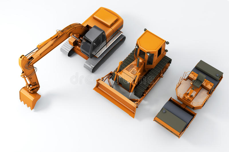 Road machinery stock illustration