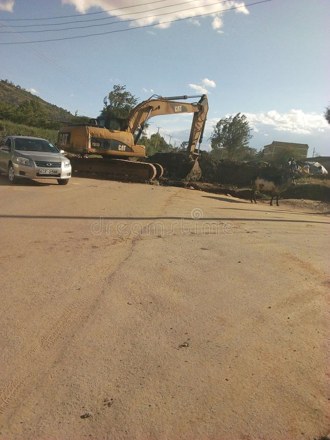 Road maintenance stock photography