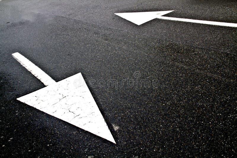 Road marking arrows