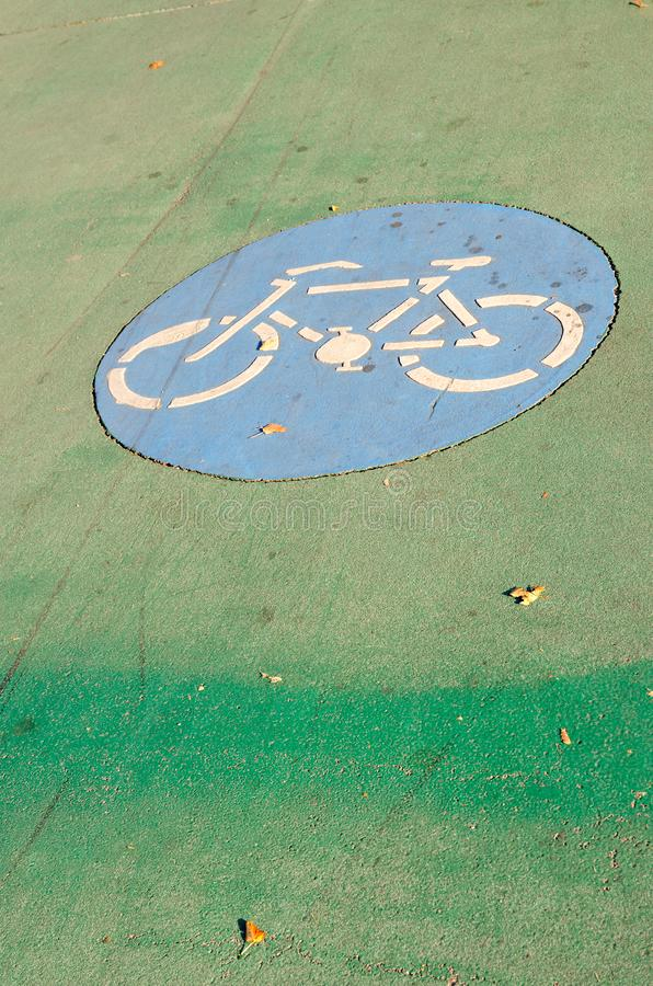Road marking Cycle Path, Vienna, Austria royalty free stock photography