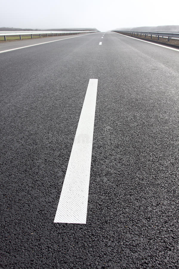 Road marks royalty free stock image