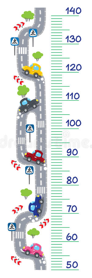 Road meter wall royalty free stock photography