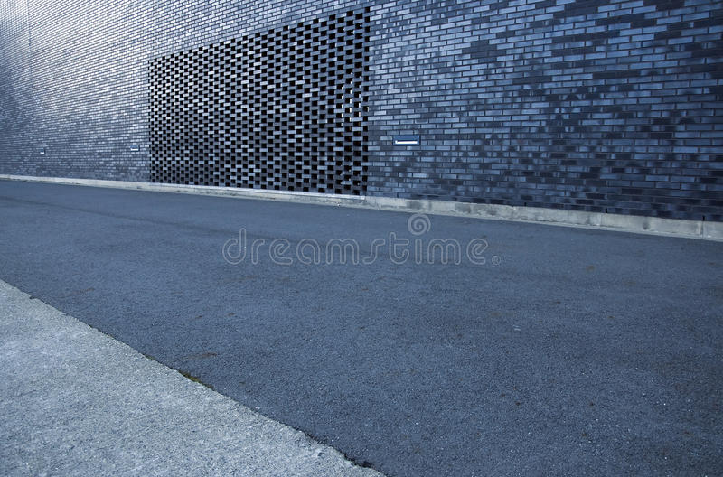 The road and the modern construction stock image